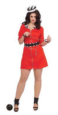 click image above to buy plus size convict costume prisoner costumes