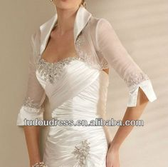 Cheap jacket rain, Buy Quality accessories bling directly from China jacket retail Suppliers: High Neck Half Sleeve Lace Beaded Satin Tulle Bridal Wedding Bolero Jacket Shawl Wrap 2014 Collection Wedding Accessory Wedding Dress Bolero, Wedding Jacket, One Shoulder Wedding Dress, Wedding Dresses, Satin Tulle, Bolero Jacket, Beaded Lace, Half Sleeves, Wedding Accessories