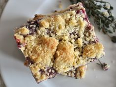 """Can you encapsulate the feeling of """"fall-in-a-vineyard"""" in a dessert? I tried and IMHO succeeded with these bar cookies. The trick? Pairing a rich homemade Concord grape and thyme jam with a sweet butter cookie base. No Bake Desserts, Just Desserts, Dessert Recipes, Cookie Bars, Bar Cookies, Baking Recipes, Cookie Recipes, Grape Jam, Grape Recipes"""