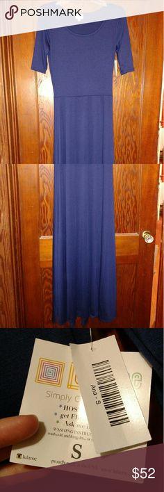 NWT Lularoe Ana maxi dress, Navy Blue, size small Jersey knit, true to size LuLaRoe Dresses Maxi