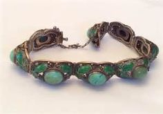 turquoise jewelry asian - Bing Images Persian Turquoise Bracelet Chinese Export Enamel