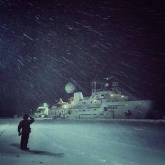 NOAA Ship Okeanos Explorer, seen here in North Kingstown, Rhode Island,