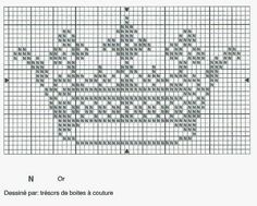 Gráfico coroa princesa para bordar em pontos cruz