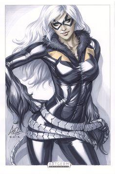 CyberWolf, Black Cat - Orignal Art Created by Stanley...