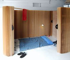 Soft Shelter by Molo. Adjustable walls which can create both community and personal space in emergency shelters.