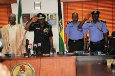 awesome Photos: INEC Chairman Yakubu pay condolence visit to IGP Idris over death of police officers in Rivers State