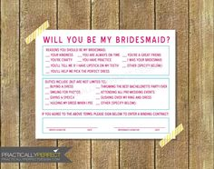 My bridesmaid invites