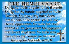 Hemelvaart Afrikaans, Periodic Table, Easter, Periodic Table Chart, Periotic Table, Easter Activities