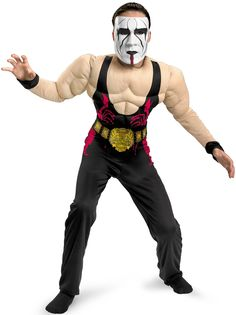 Dress up as Sting for Halloween. If you are a Sting fan, use this costume kit to dress up as your favorite WWE wrestler. Teen Boy Costumes, Costumes For Teens, Adult Costumes, Sports Costumes, Wrestling Costumes, Wwe, Star Trek Show, Cheerleader Costume, Horse Costumes