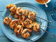 Healthy Summer Recipe for Grilled Shrimp: Food Network Video | FoodNetwork.com