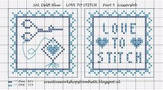 Creative Workshops from Hetti: SAL Delft Blue Love To Stitch Part 5... no color chart available, just use pattern chart as your color guide.. or choose your own colors..