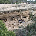 Ranger-guided tour in Cliff Palace at Mesa Verde National Park in Colorado