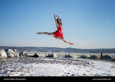 Dancer Among Us Rebecca Balbach of Connecticut Ballet jumped thirty times in gusty 5° conditions over rocky terrain to get this shot on the frozen Hudson River. Dancers never fail to amaze me.