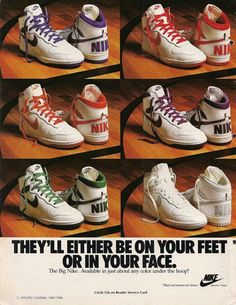 reputable site bf6a1 7a6dd Vintage Nike ad Old Nikes, Nike Basketball, Basketball Sneakers, Vintage  Sneakers, Vintage