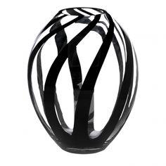 Wilko Striped Vase Black at wilko.com