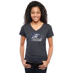 Women's Navy Georgia Southern Eagles Classic Primary Tri-Blend V-Neck T-Shirt