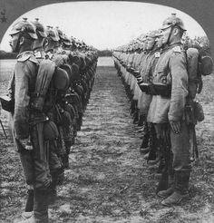 German soldiers in formation.