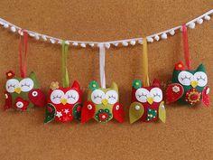 Enfeites de Natal! | Enfeites para árvore de Natal - Coruja … | Flickr