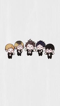 So kawai 😍 Anime Chibi, Kawaii Anime, Anime Manga, Haikyuu Funny, Haikyuu Fanart, Haikyuu Anime, Haikyuu Wallpaper, Cute Anime Wallpaper, Animes Wallpapers