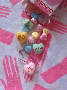 DIY Conversation Heart Charms