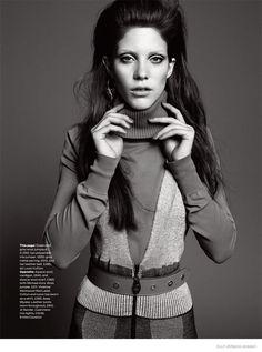 Carla Ciffoni Layers in Fall Knitwear for ELLE UK by Bjarne Jonasson