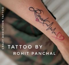 Tattoo by Rohit Panchal at Crazy Addiction Tattoos, Vadodara Gujarat © 2019 Tattoo Addiction, Name Tattoos, Names