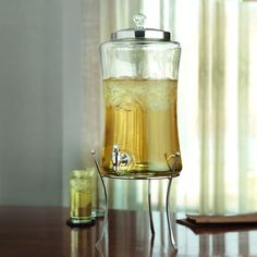 1 Gallon Glass Dispenser Beverage with Stand Pitcher Jug Free Shipping #AmericanAtelier