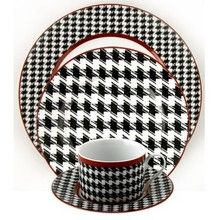 Houndstooth Dinnerware OK I MIGHT WANT A SET-----------WHAT I LIKE DISHES----