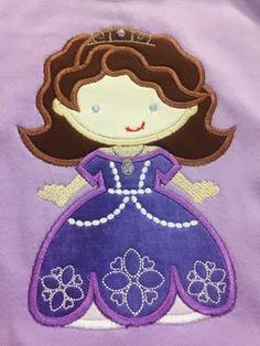 Princess Sofia applique shirt by HPA