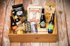 Buckalew's Brew Box - a curated gift box of local craft beer and bar snacks! Clown Shoes, Curated Gift Boxes, Snack Bar, All Craft, Beer Lovers, Craft Beer, Brewing, Chips, Snacks