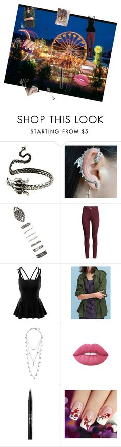 """""""SPARKS START TO FLY"""" by ilovemygracielou ❤ liked on Polyvore featuring Forever 21, H&M, Doublju, WithChic, Lucky Brand, Urban Decay, Lime Crime, Trish McEvoy, statefair and summerdate"""
