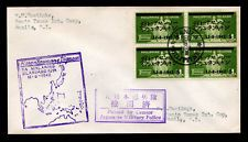 Phillipines WW II Japanese Occupation Sc #N9 Block of 4 Censored FDC 12/8/1942