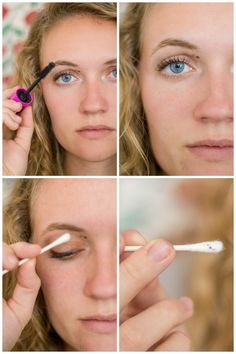 Tried and True Makeup Hacks - removing those accidental mascara marks with a Q-tip!