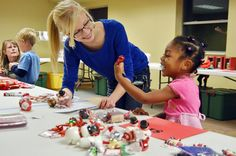 Katie Prochnow, 15, left, helps three-year-old Janiyah Morgan choose a gift at Bethel Lutheran Church's Santa's Secret Shop event Monday night at the Wahpeton Community Center.     Tips on how to (start your own home business as a secret shopper.) Learn more by going to my site!