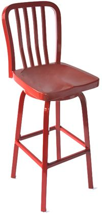 Outdoor BAR: Custom Color Vertical Patio Aluminum Swivel Barstool