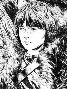 www.artpeoplegallery.com  Game of Thrones characters, illustration by Drumond
