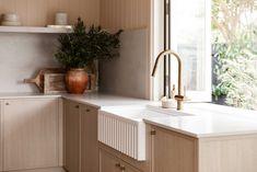 Kitchen Shop, Kitchen Taps, Kitchen Design, Three Birds Renovations, Shaker Doors, Kitchen Magic, Contemporary Cottage, Architrave, Sweet Home