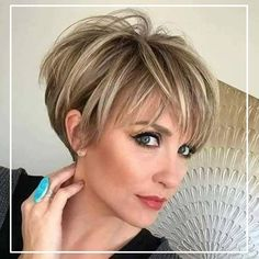 Hair Color Ideas for Short Pixie Cuts Bright and Bold Pixie Hair Color Trends A. Hair Color Ideas for Short Pixie Cuts Bright and Bold Pixie Hair Color Trends Are you already tired of the same long, traditional hairstyles and want. Stylish Short Haircuts, Short Hairstyles For Women, Hairstyles Haircuts, Layered Hairstyles, Cute Pixie Haircuts, Long Pixie Hairstyles, Blonde Hairstyles, Simple Hairstyles, Bob Haircuts