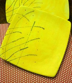 Sushi Style Plate in Daisy Yellow $34 by ATime2beeunique on #zibbet