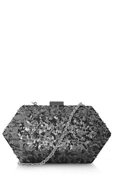 [Sequined Box Clutch - Topshop @ Nordstrom] Love the shape, and the sequins make it even better!