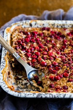 This baked cranberry oatmeal is ready in under an hour and reheats perfectly for a hearty breakfast all week long. Plus it's a great use for all those fall cranberries and delicious maple syrup. This post is sponsored by Bob's Red Mill. As always all opinions and thoughts are 100% my own. I have made …