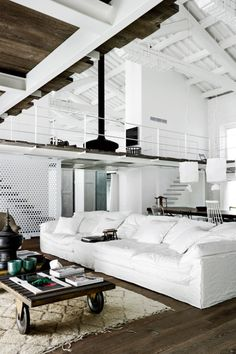 Paola Navone's industrial style renovation.