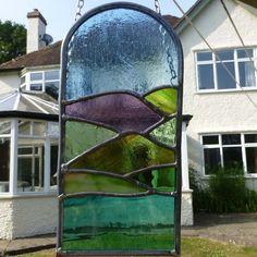Stained Glass Italian Landscape Light Catcher
