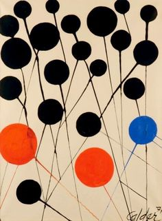 points, lines Alexander Calder ✭ art inspiration ✭ dots Alexander Calder, Alexander Henry, Modern Art, Contemporary Art, Graphic Art, Graphic Design, Art Moderne, Art Graphique, Land Art