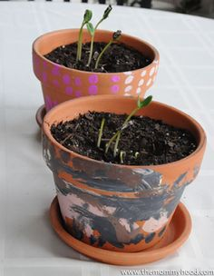 Tips for Easy Gardening with Your Kids/ we are making some of these pots :)
