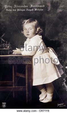 Alexander Ferdinand, 26.12.1912 - 12.6.1985, Prince of Prussia, full length, as child, picture postcard by Sandau, Berlin, circa - Stock Image