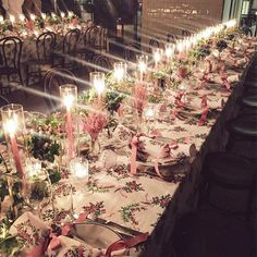 Pink Christmas perfection table setting photo by @aliceinherpalace • 2,865 likes