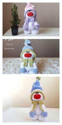 Amigurumi Sweet Christmas Snowman Free Pattern – FREE AMİGURUMİ CROCHET Double Crochet, Single Crochet, Crochet Toys, Free Crochet, Crochet Snowman, Crochet Winter, Amigurumi Doll, Christmas Snowman, Hello Dear