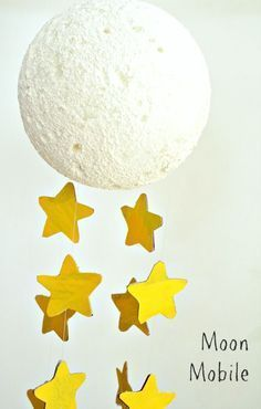Moon Craft Mobile For Kids Space Themed Vbs Moon Crafts Crafts