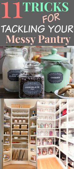 11 Ways in Organizing and pantry storage. Lets look at some tricks that will help to organize your pantry. You can get some great ideas and knowledge on how to get started.